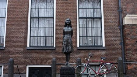 Anne Frank House Statue