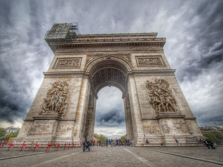 Arc De Triomphe enchantingly colored