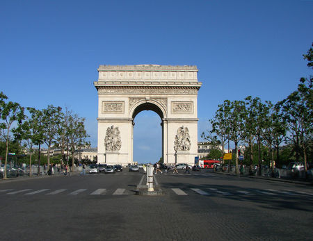 Arc De Triomphe front from Champs Elysees