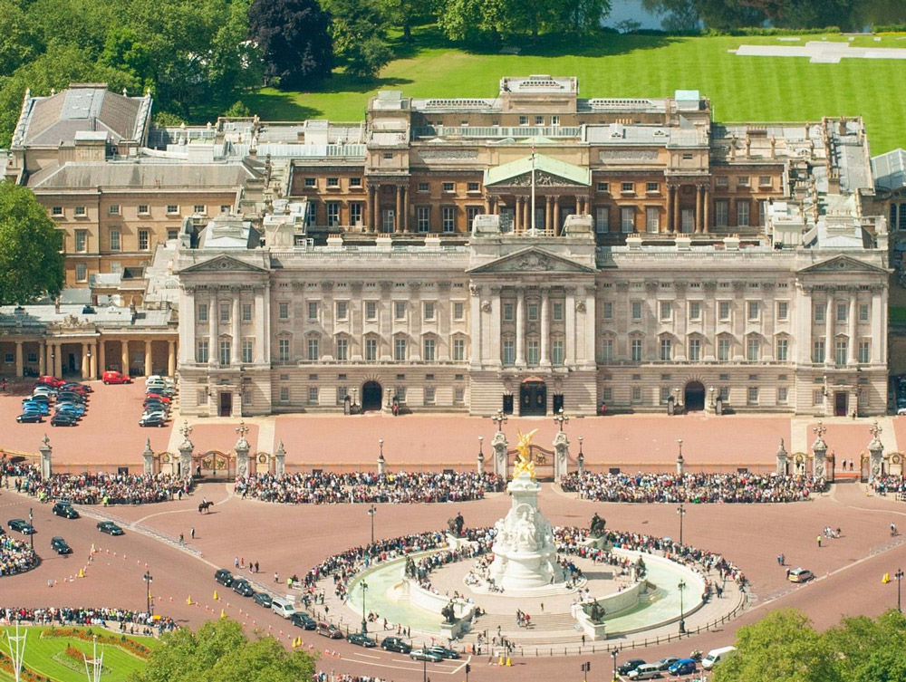 Buckingham Palace birds eye view