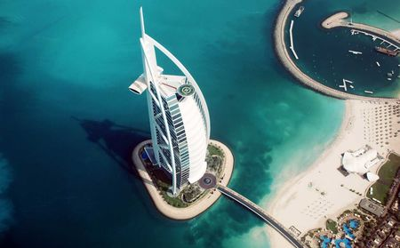 Burj Al Arab Birds Eye View