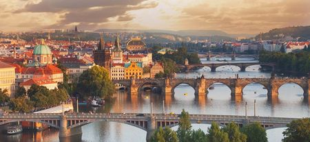 Prague Bridges Panorama