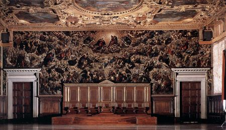 Doge's Palace Paradise By Tintoretto