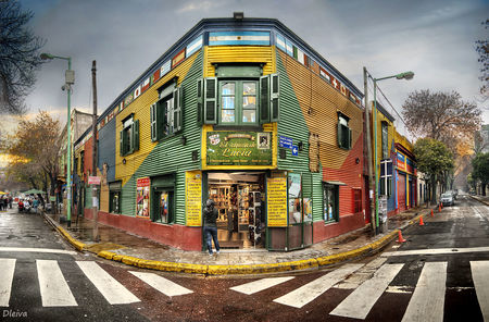 La Boca barrio colored