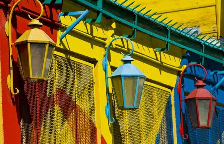 La Boca red yellow blue