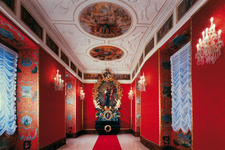 Lobkowicz Palace Red Interior