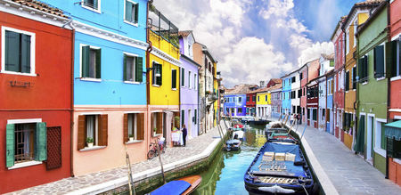 Canals and Colorful Houses in Borano and Morano