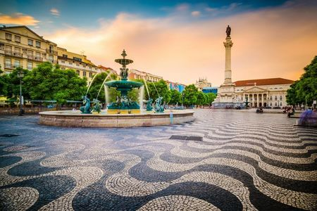 Rossio Square Colorful