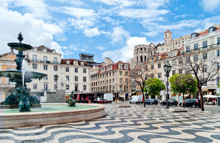 Rossio Square picturesque Fountain