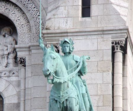 Sacre Coeur's statue of Saint Joan of Arc