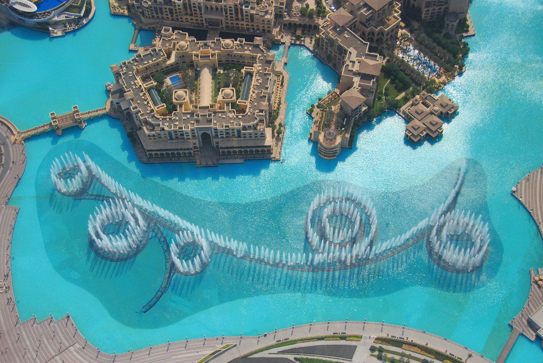 Dubai Fountain From Top
