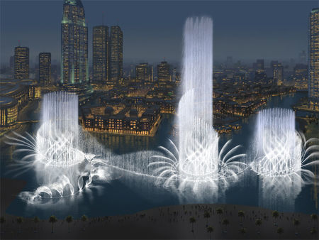 High Jumps of the Dubai Fountain