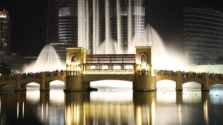 The Dubai Fountain and Bridge