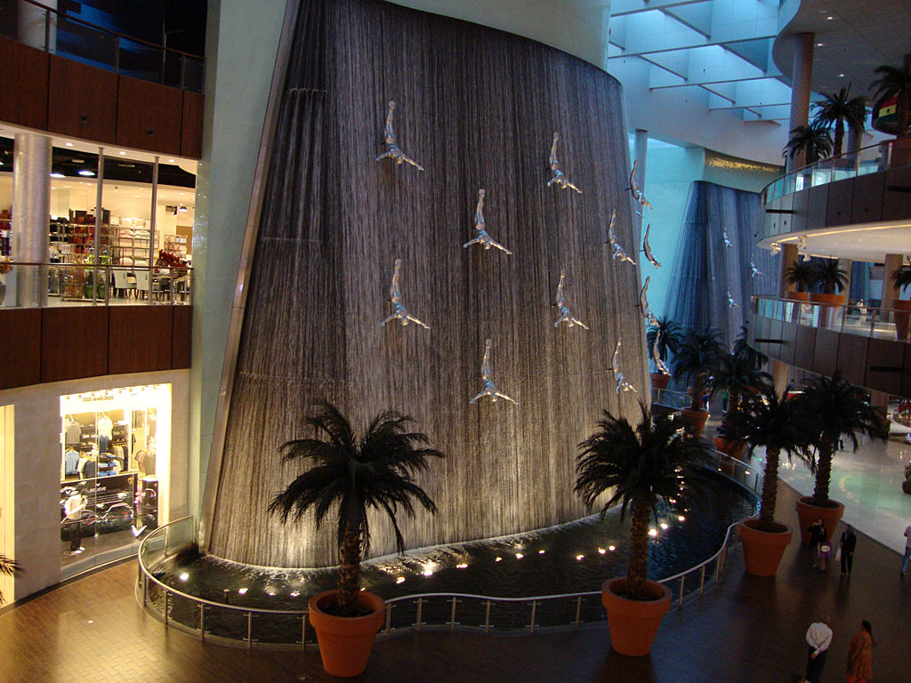 Fountain in the Dubai Mall