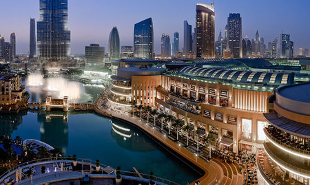 The Dubai Mall and Fountain