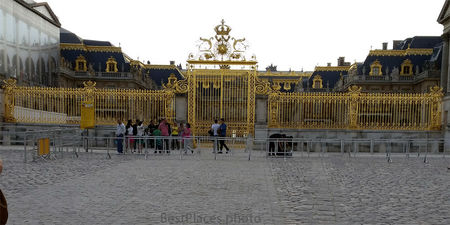 Versailles golden front gate
