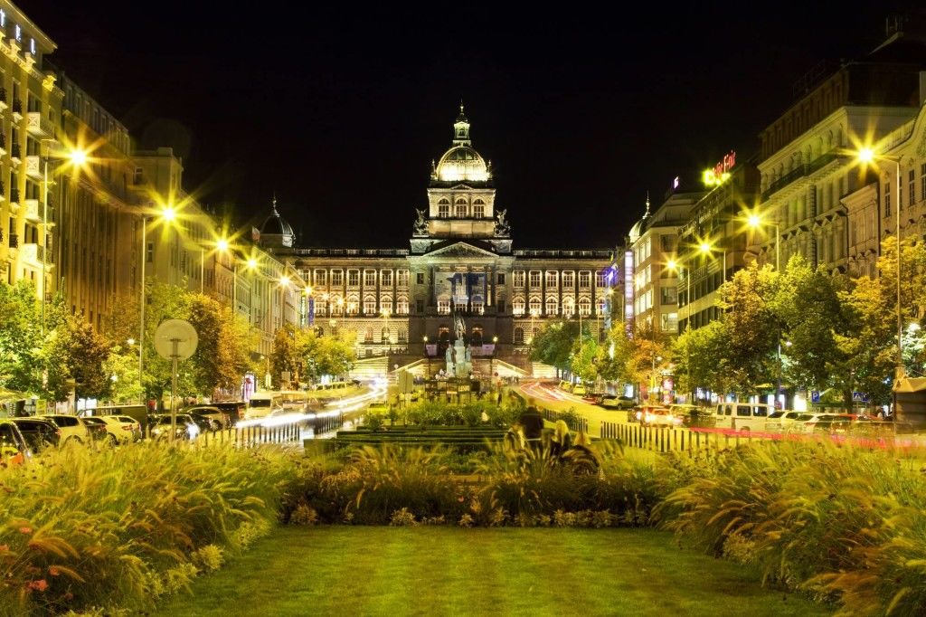 Wenceslas Square by Night