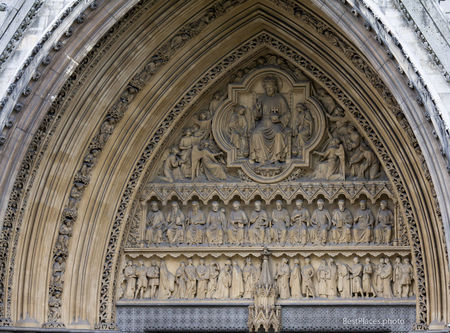 Westminster Abbey entrance sculptures