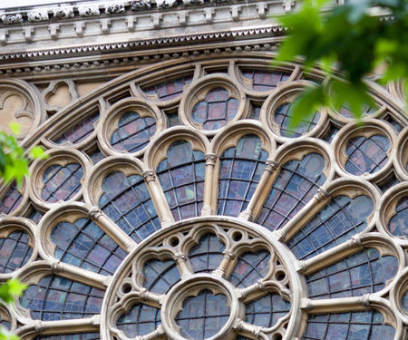 Westminster Abbey facade rose window