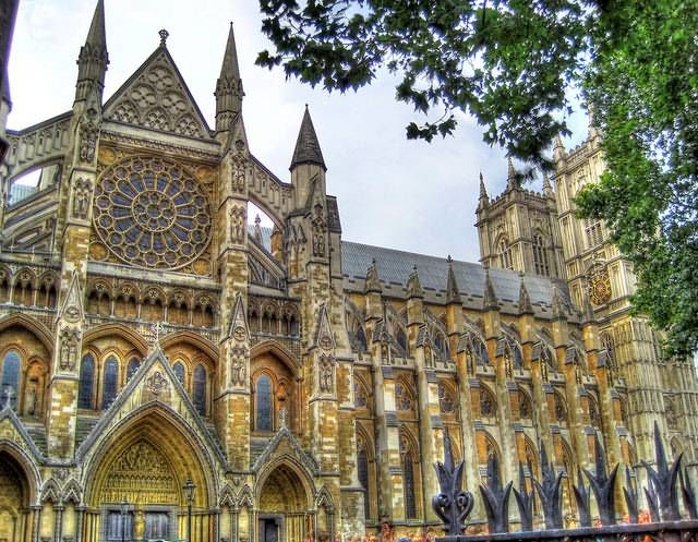 Westminster Abbey nord side colored