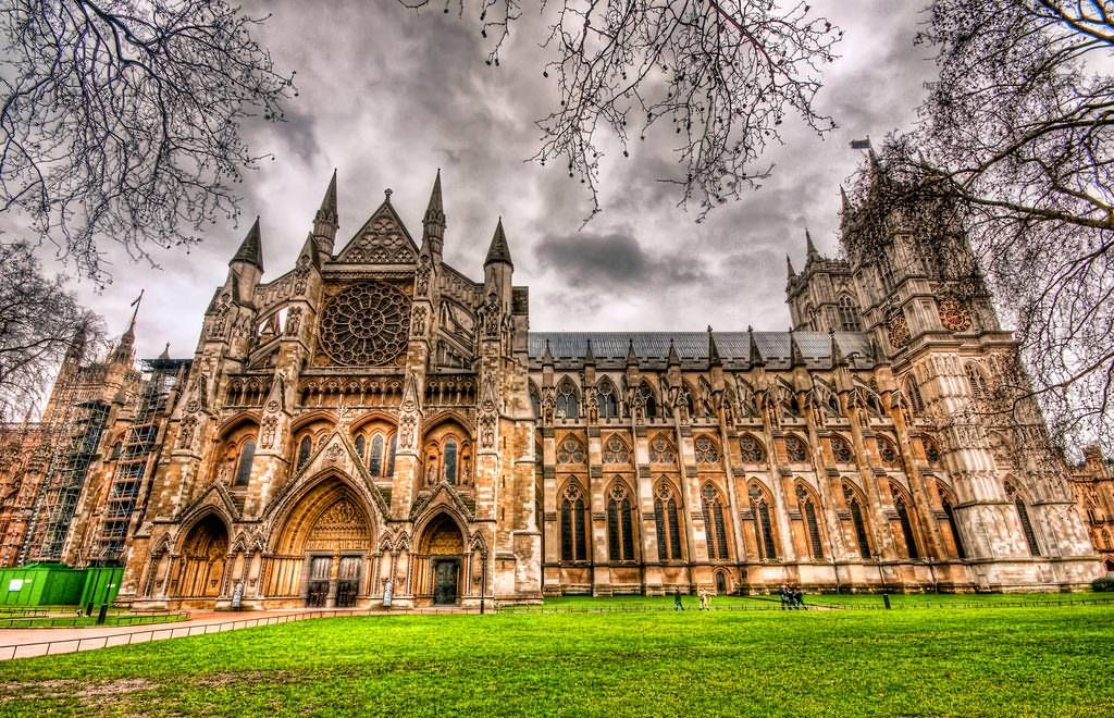Westminster Abbey north panoramic colored