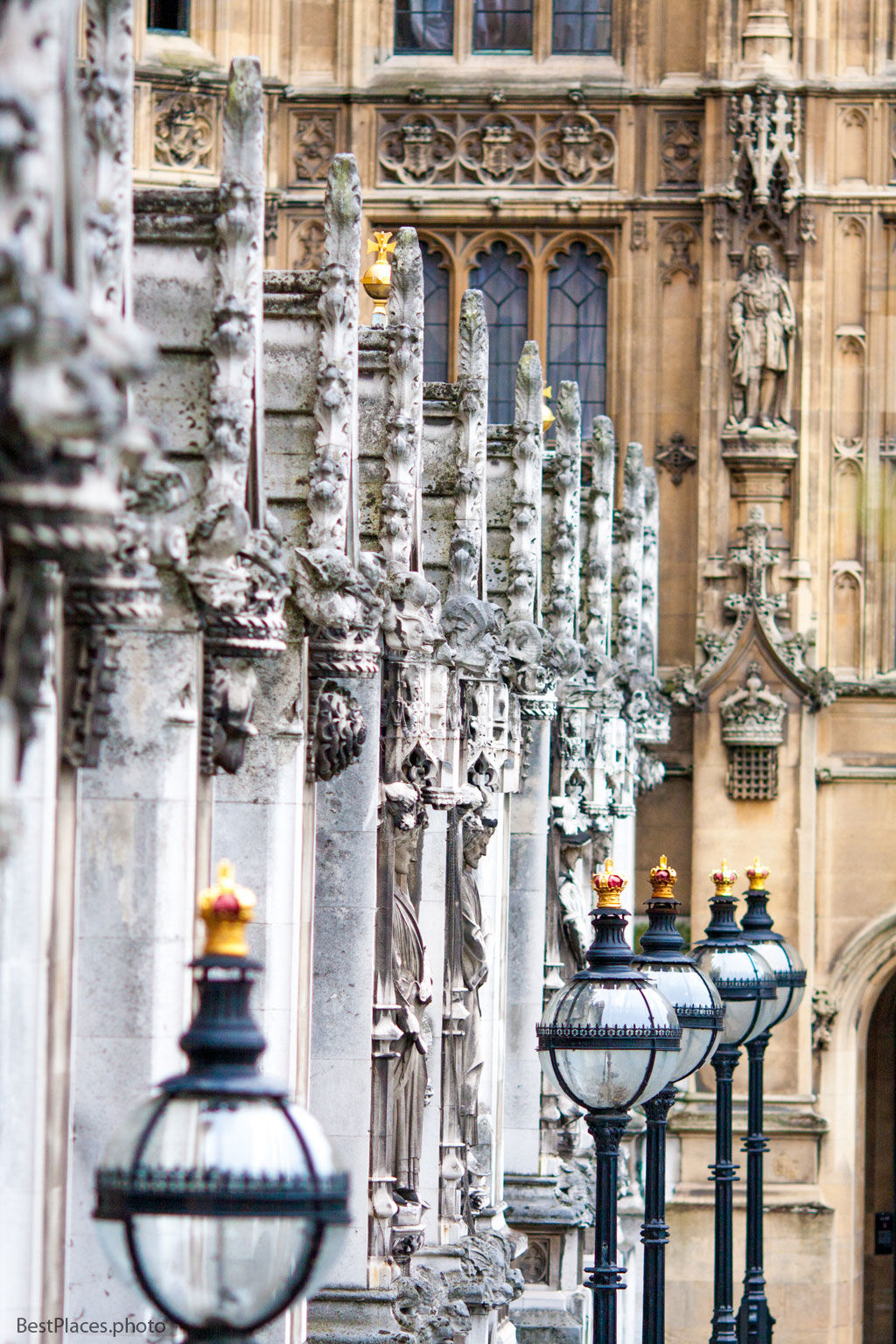 Westminster Palace Facade Goblins and Lamps